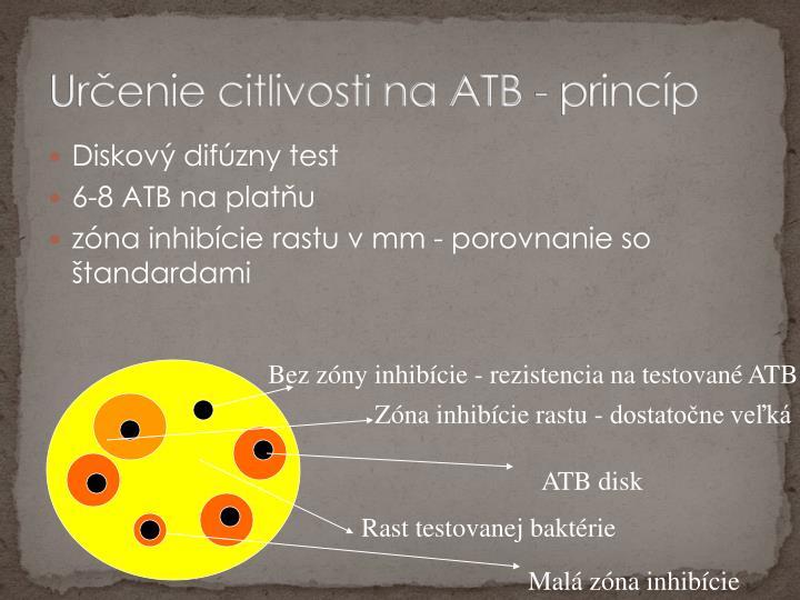 Určenie citlivosti na ATB - princíp