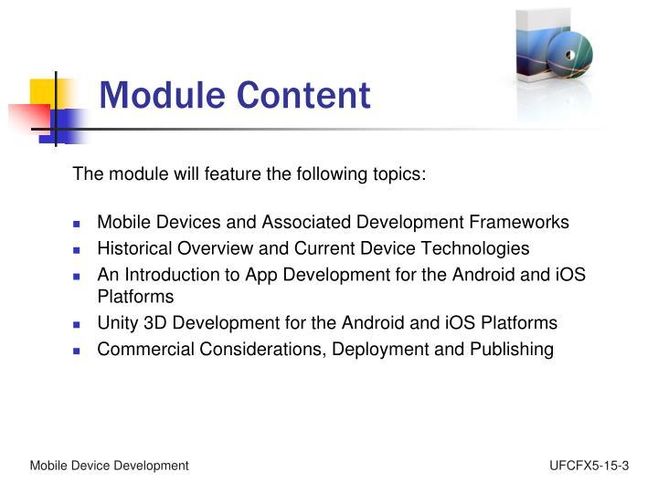 Module Content