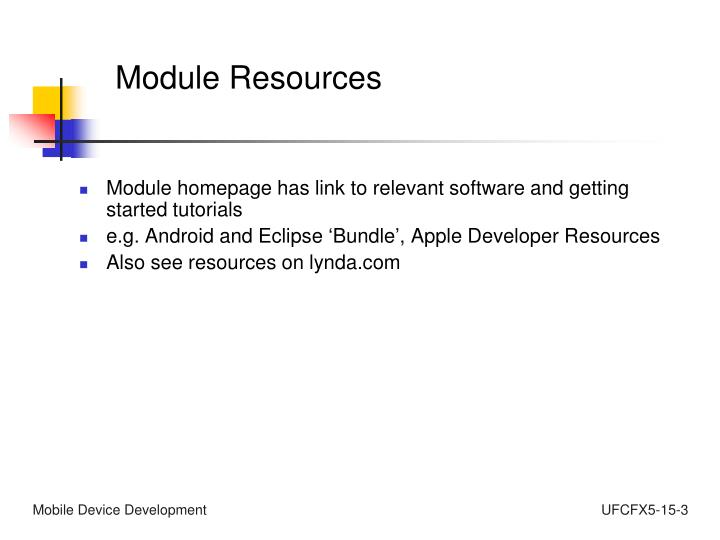 Module Resources