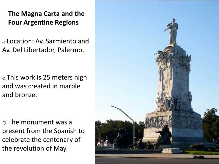 The Magna Carta and the Four Argentine Regions