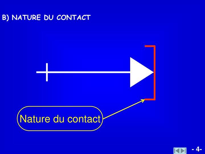 Nature du contact