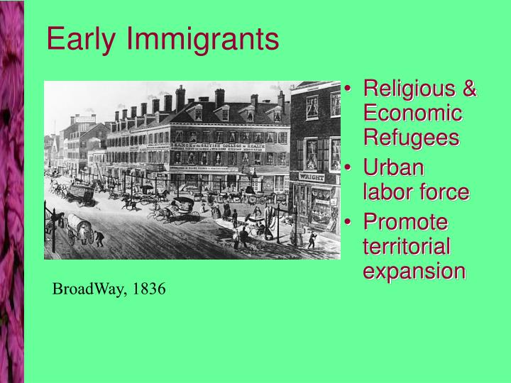 Early Immigrants