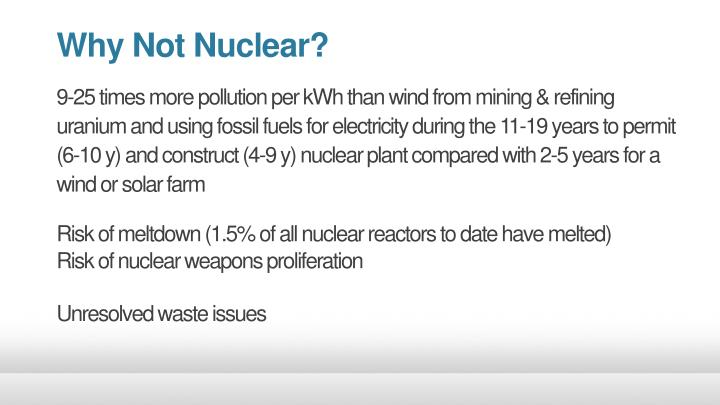 Why Not Nuclear?