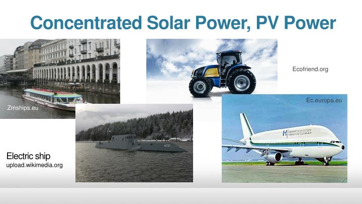 Concentrated Solar Power, PV Power