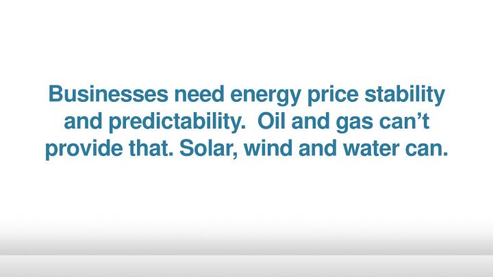 Businesses need energy price