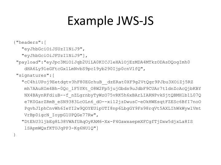 Example JWS-JS