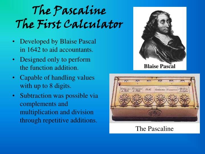 The Pascaline