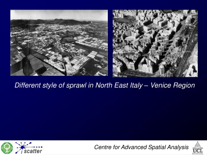Different style of sprawl in North East Italy – Venice Region