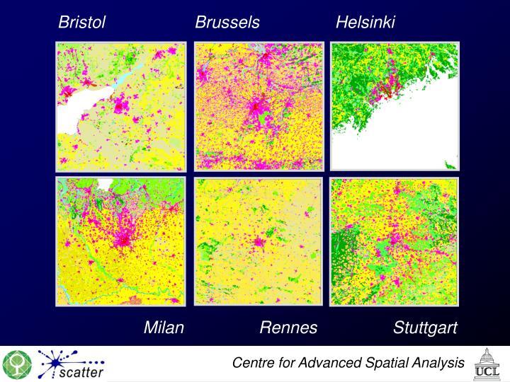 Bristol                   Brussels                Helsinki