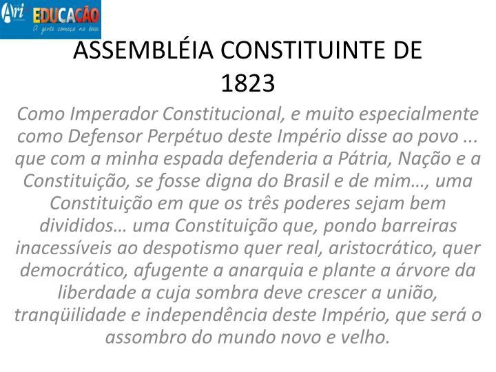 ASSEMBLÉIA CONSTITUINTE DE 1823