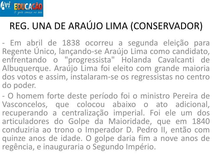 REG. UNA DE ARAÚJO LIMA (CONSERVADOR)