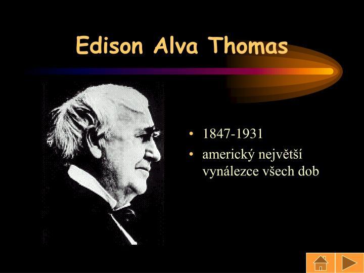 Edison Alva Thomas