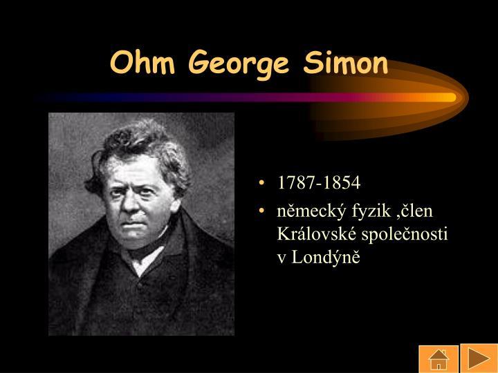 Ohm George Simon