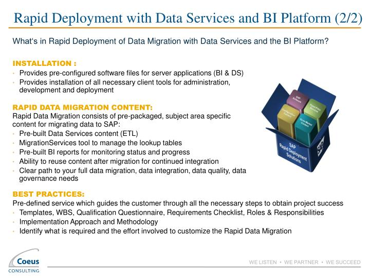 Rapid Deployment with Data Services and BI Platform (2/2)