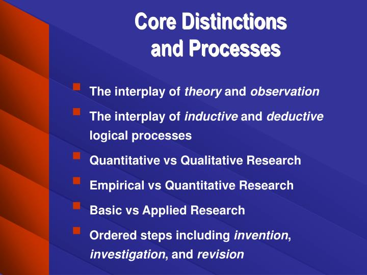 Core Distinctions