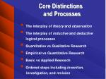 core distinctions and processes