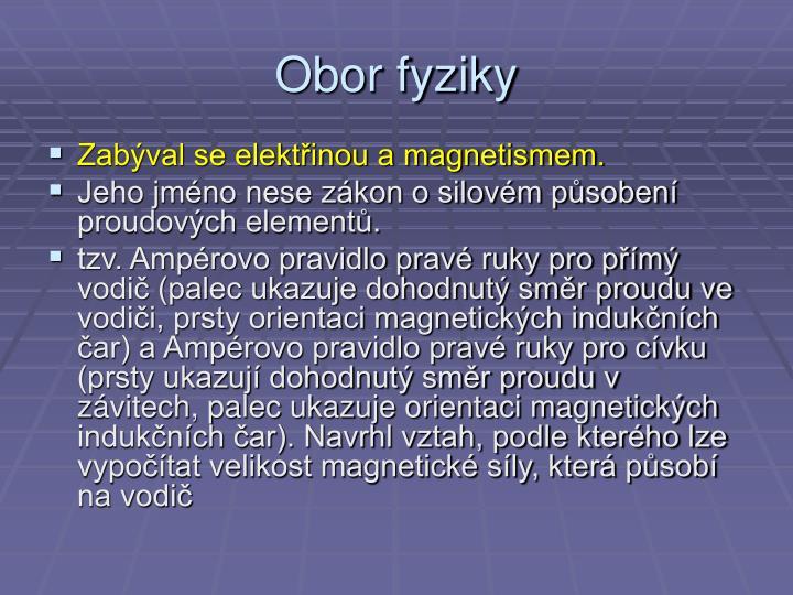 Obor fyziky