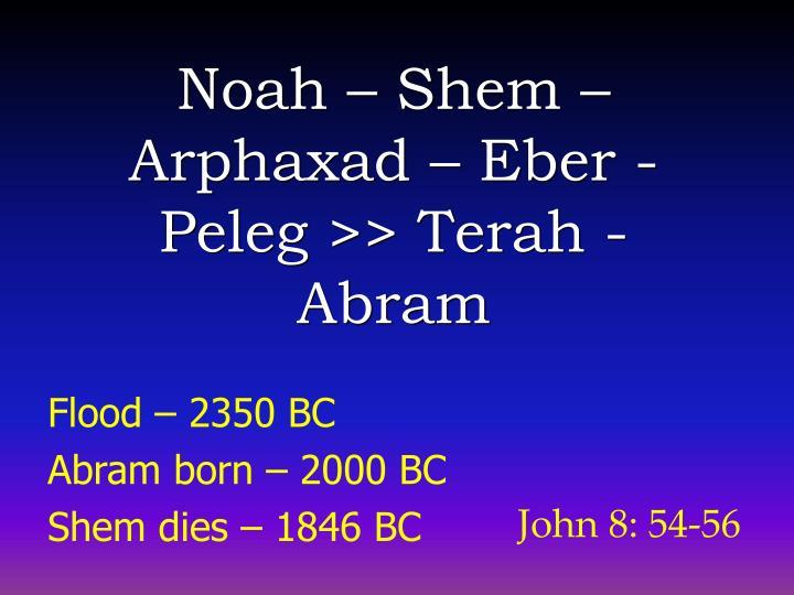 Noah – Shem –