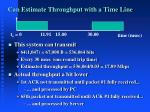 can estimate throughput with a time line1
