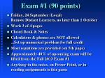 exam 1 90 points