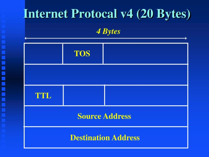 Internet Protocal v4 (20 Bytes)
