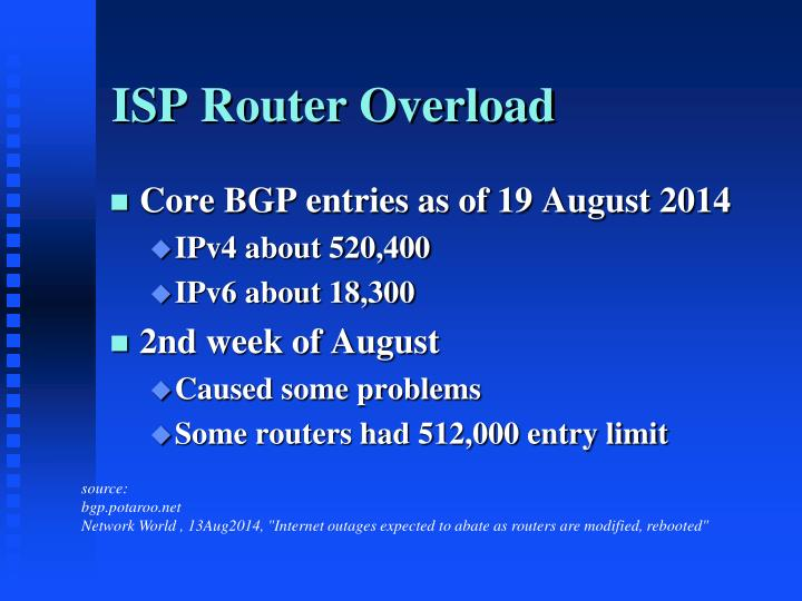 ISP Router Overload