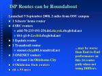 isp routes can be roundabout1