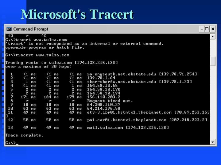 Microsoft's Tracert