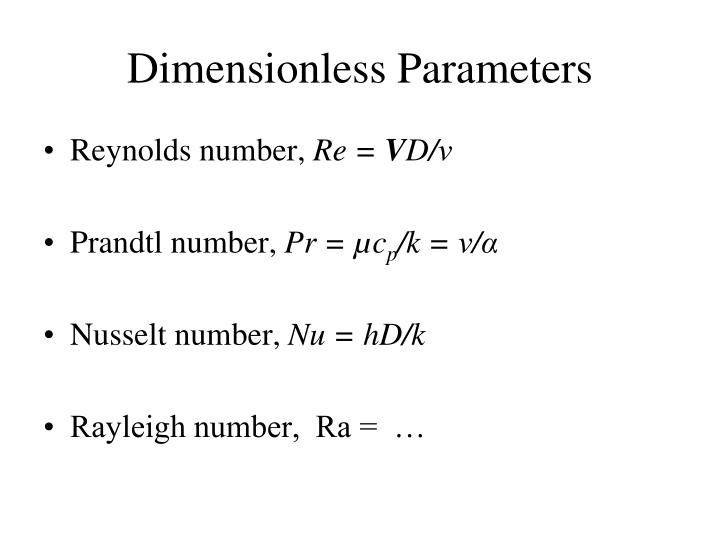 Dimensionless Parameters