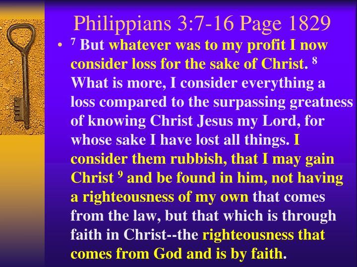 Philippians 3:7-16 Page 1829