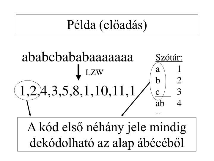 Példa (előadás)