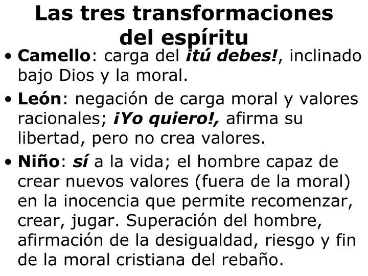 Las tres transformaciones del espíritu