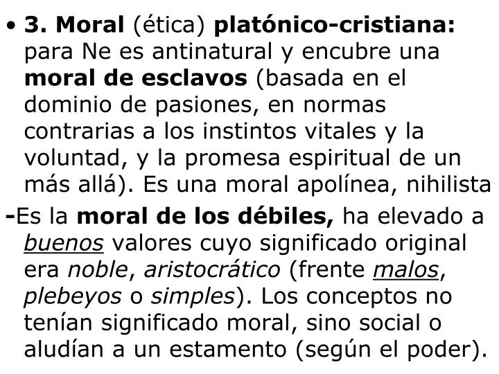 3. Moral