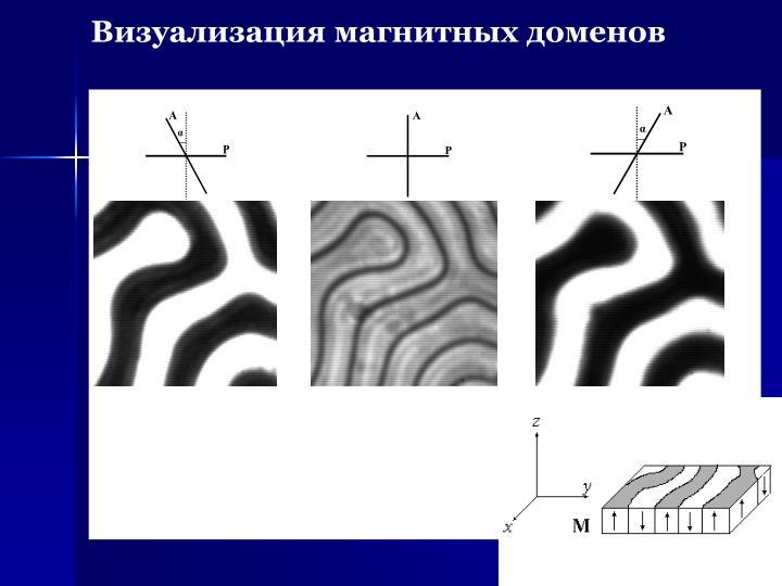 Визуализация магнитных доменов
