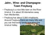 jahn wine and champagne town freyburg