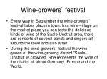 wine growers festival