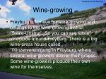wine growing