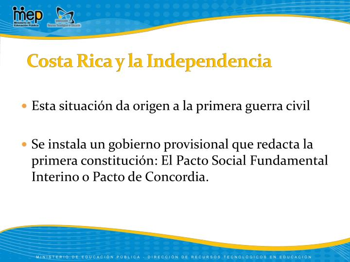 Costa rica y la independencia1