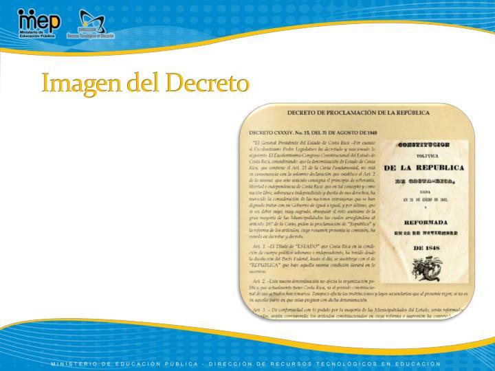 Imagen del Decreto