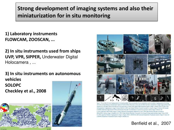 Strong development of imaging systems and also their miniaturization for in situ monitoring