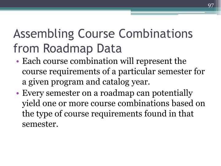 Assembling Course Combinations from Roadmap Data
