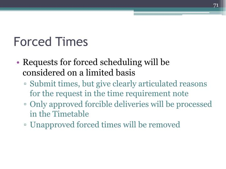 Forced Times