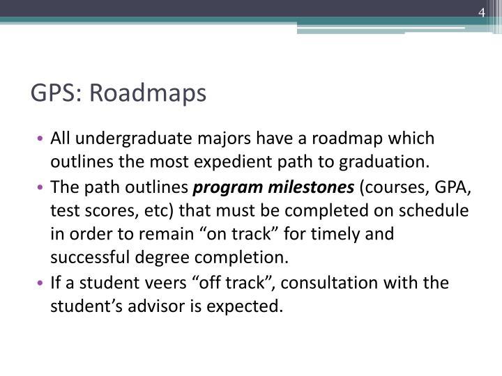 GPS: Roadmaps