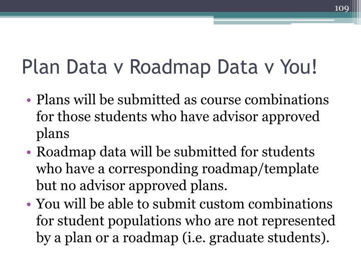 Plan Data v Roadmap Data v You!