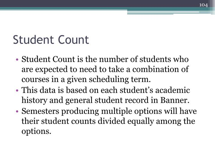 Student Count