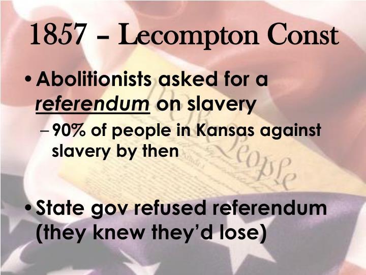 1857 – Lecompton Const