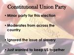 constitutional union party