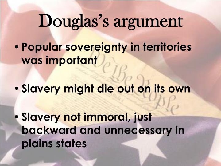 Douglas's argument