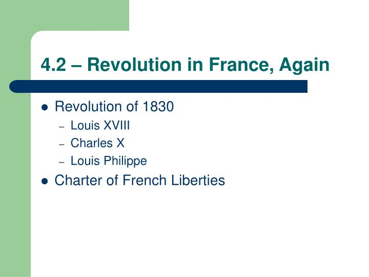 4 2 revolution in france again