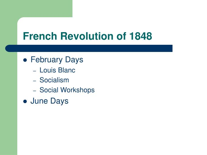 French revolution of 1848